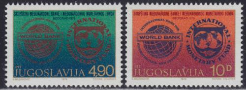 Poštovní známky Jugoslávie 1979 Svìtová banka a MMF Mi# 1802-03