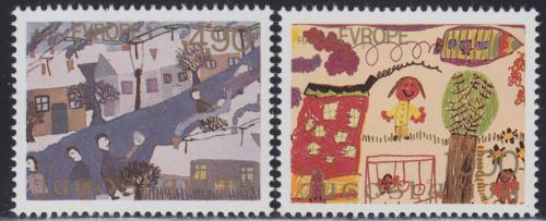 Poštovní známky Jugoslávie 1979 Dìtské kresby Mi# 1804-05