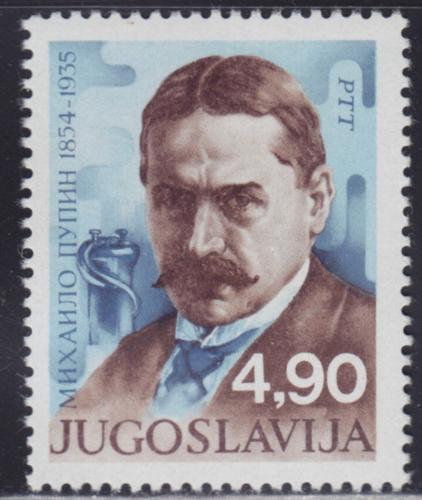 Poštovní známka Jugoslávie 1979 Mihailo Pupin, fyzik Mi# 1806