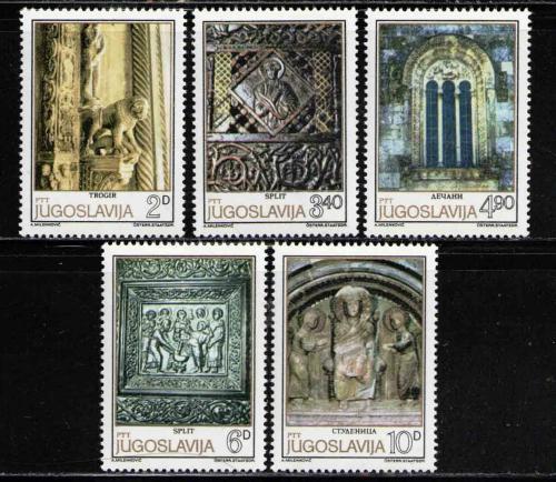 Poštovní známky Jugoslávie 1979 Románské umìní Mi# 1809-13