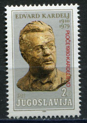 Poštovní známka Jugoslávie 1980 Edvard Kardelj, politik pøetisk Mi# 1820