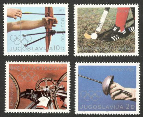 Poštovní známky Jugoslávie 1980 LOH Moskva Mi# 1824-27