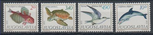 Poštovní známky Jugoslávie 1980 Støedomoøská fauna Mi# 1834-37 Kat 5€