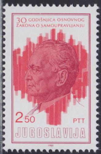 Poštovní známka Jugoslávie 1980 Prezident Josip Broz Tito Mi# 1845