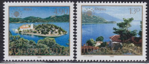 Poštovní známky Jugoslávie 1980 Ochrana pøírody Mi# 1847-48