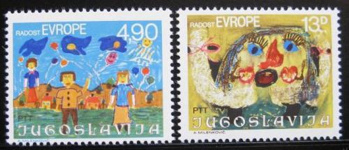 Poštovní známky Jugoslávie 1980 Dìtské kresby Mi# 1854-55