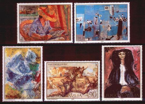 Poštovní známky Jugoslávie 1980 Umìní Mi# 1867-71