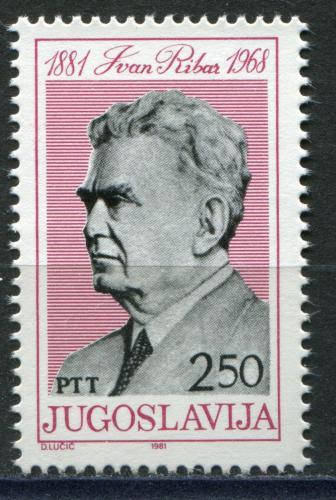 Poštovní známka Jugoslávie 1981 Ivan Ribar, politik Mi# 1872