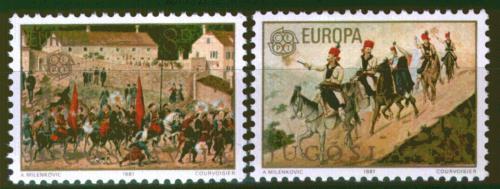 Poštovní známky Jugoslávie 1981 Evropa CEPT, folklór Mi# 1883-84