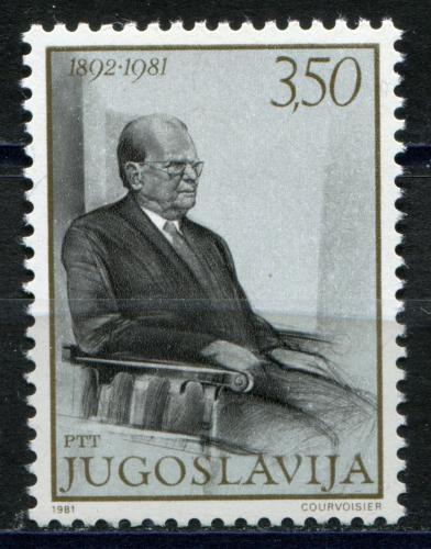 Poštovní známka Jugoslávie 1981 Prezident Tito Mi# 1886