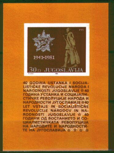 Poštovní známka Jugoslávie 1981 Povstání proti okupaci, 40. výroèí Mi# Block 19