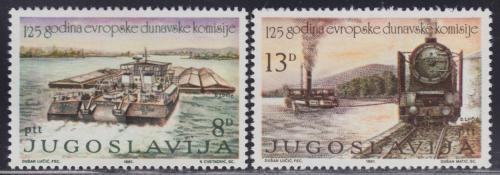 Poštovní známky Jugoslávie 1981 Lodì Mi# 1903-04