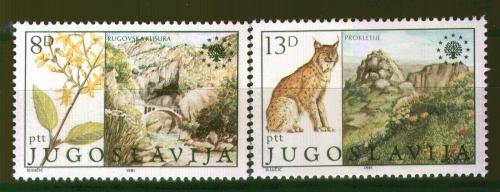 Poštovní známky Jugoslávie 1981 Ochrana pøírody Mi# 1908-09