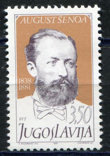 Poštovní známka Jugoslávie 1981 August Šenoa, spisovatel Mi# 1910