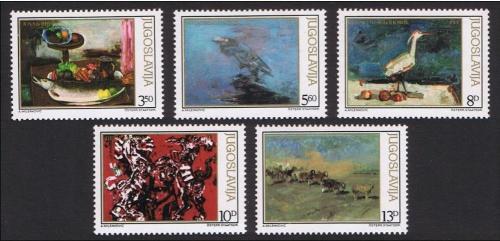 Poštovní známky Jugoslávie 1981 Umìní, zvíøata Mi# 1911-15
