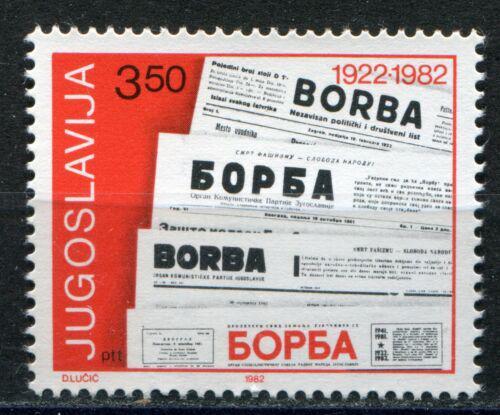 Poštovní známka Jugoslávie 1982 Noviny Borba, 60. výroèí Mi# 1917
