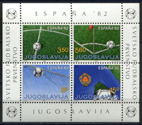 Poštovní známky Jugoslávie 1982 MS ve fotbale Mi# Block 20