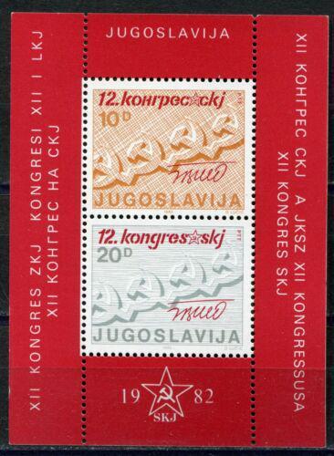 Poštovní známky Jugoslávie 1982 Sjezd komunistické strany Mi# Block 21