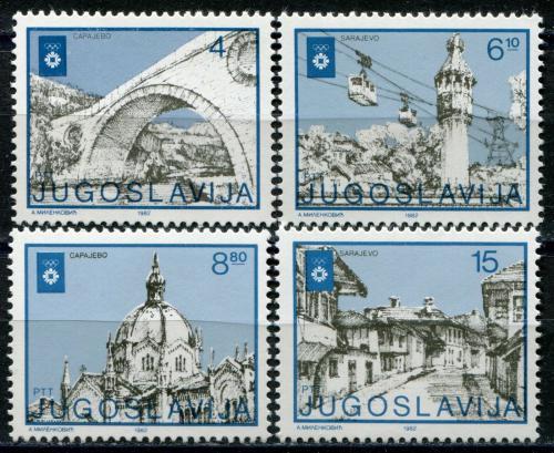 Poštovní známky Jugoslávie 1982 ZOH Sarajevo Mi# 1950-53