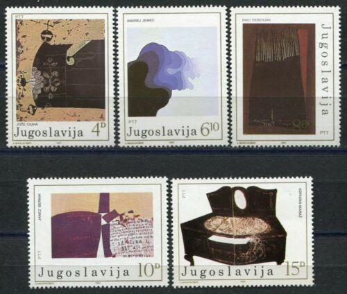 Poštovní známky Jugoslávie 1982 Moderní umìní Mi# 1957-61