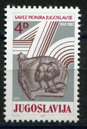 Poštovní známka Jugoslávie 1982 Pionýrská organizace, 40. výroèí Mi# 1965