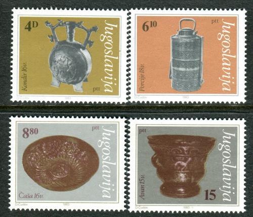 Poštovní známky Jugoslávie 1983 Muzejní exponáty Mi# 1969-72