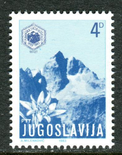 Poštovní známka Jugoslávie 1983 Horský vrchol Jalovec Mi# 1973