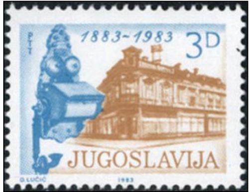 Poštovní známka Jugoslávie 1983 Telefon, 100. výroèí Mi# 1975