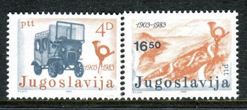 Poštovní známky Jugoslávie 1983 Nezávislá pošta, 80. výroèí Mi# 1989-90
