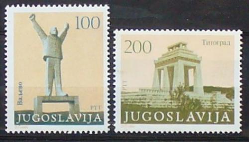 Poštovní známky Jugoslávie 1983 Památníky revoluce Mi# 1991-92 Kat 5.50€