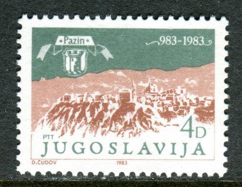 Poštovní známka Jugoslávie 1983 Pazin, 1000. výroèí Mi# 1994