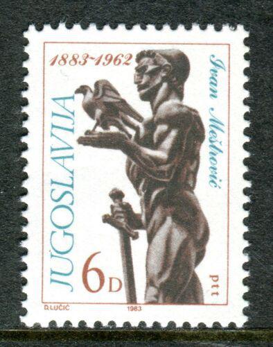 Poštovní známka Jugoslávie 1983 Ivan Meštroviè, sochaø Mi# 1997