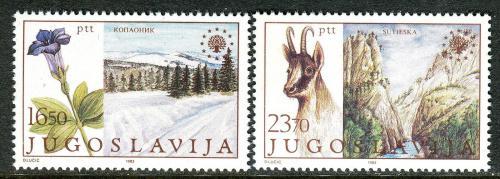 Poštovní známky Jugoslávie 1983 Ochrana pøírody Mi# 2000-01