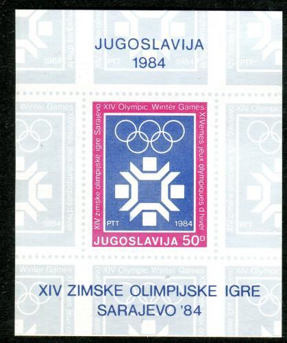 Poštovní známka Jugoslávie 1983 ZOH Sarajevo Mi# Block 22