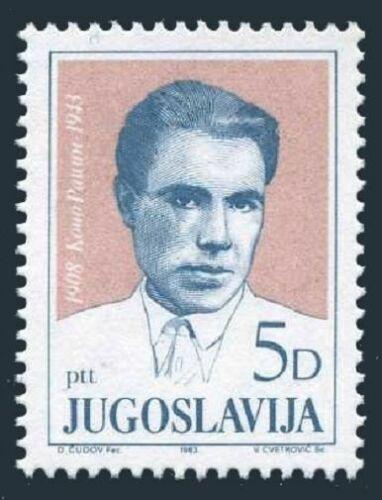 Poštovní známka Jugoslávie 1983 Koèo Racin, spisovatel Mi# 2022