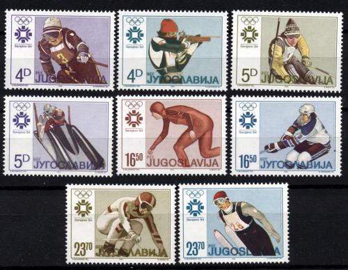 Poštovní známky Jugoslávie 1984 ZOH Sarajevo Mi# 2025-32