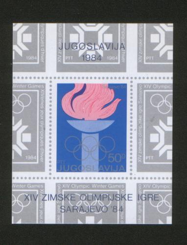 Poštovní známka Jugoslávie 1984 ZOH Sarajevo Mi# Block 24