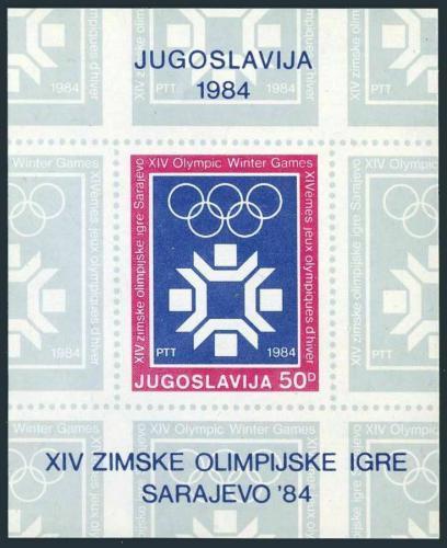 Poštovní známka Jugoslávie 1984 ZOH Sarajevo Mi# Block 25