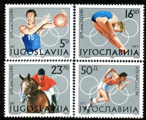 Poštovní známky Jugoslávie 1984 LOH Los Angeles Mi# 2048-51