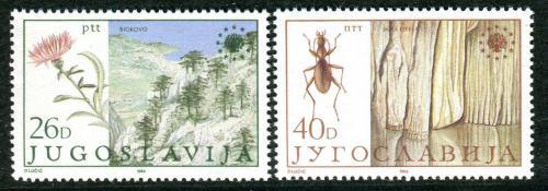 Poštovní známky Jugoslávie 1984 Ochrana pøírody Mi# 2053-54