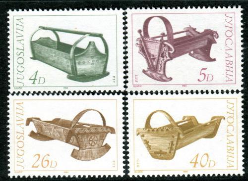 Poštovní známky Jugoslávie 1984 Staré dìtské kolébky Mi# 2061-64