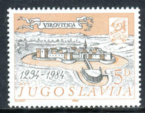 Poštovní známka Jugoslávie 1984 Virovitica, 700. výroèí Mi# 2068
