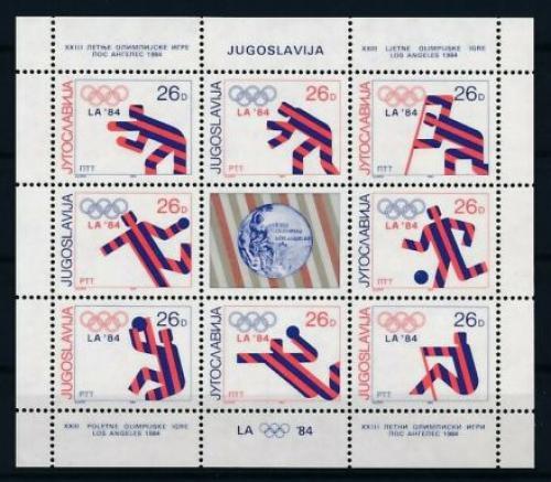 Poštovní známky Jugoslávie 1984 Olympijští medailisté Mi# 2075-82 Bogen