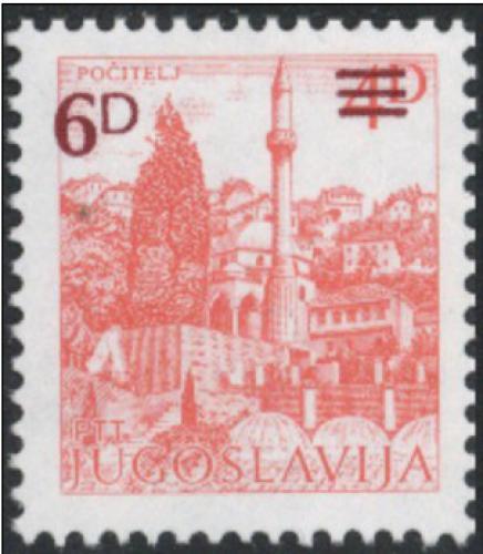 Poštovní známka Jugoslávie 1984 Poèitelj pøetisk Mi# 2088