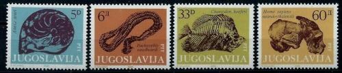 Poštovní známky Jugoslávie 1985 Fosílie Mi# 2092-95