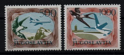 Poštovní známky Jugoslávie 1985 Letadla Mi# 2098-99 Kat 12€