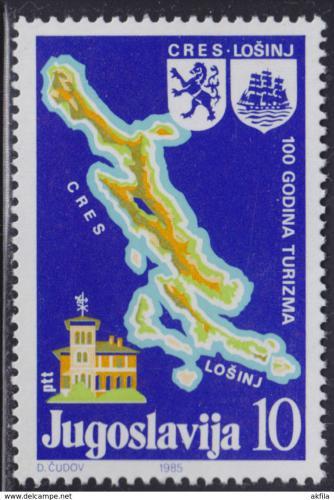 Poštovní známka Jugoslávie 1985 Turistika Mi# 2111