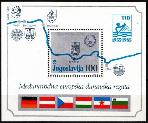 Poštovní známka Jugoslávie 1985 Evropská dunajská regata Mi# Block 26