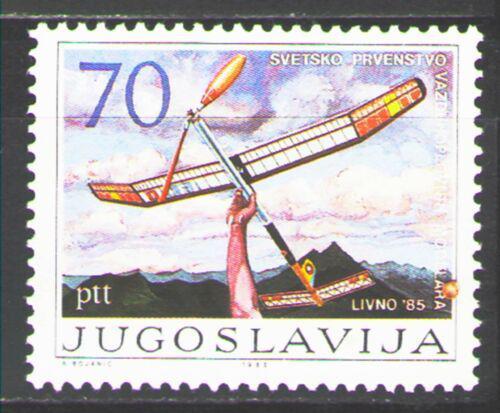 Poštovní známka Jugoslávie 1985 Letecké modeláøství Mi# 2120