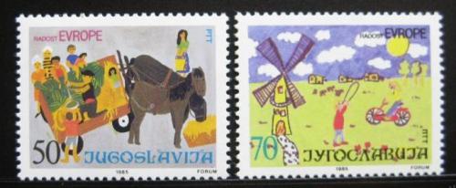 Poštovní známky Jugoslávie 1985 Dìtské kresby Mi# 2126-27